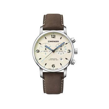 Reloj_Urban_Metropolitan_chrono_correa_de_cuero_cafe_Wenger_1